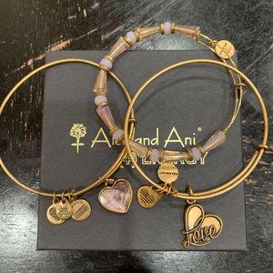 Alex and Ani Bracelet Set 3 Pieces
